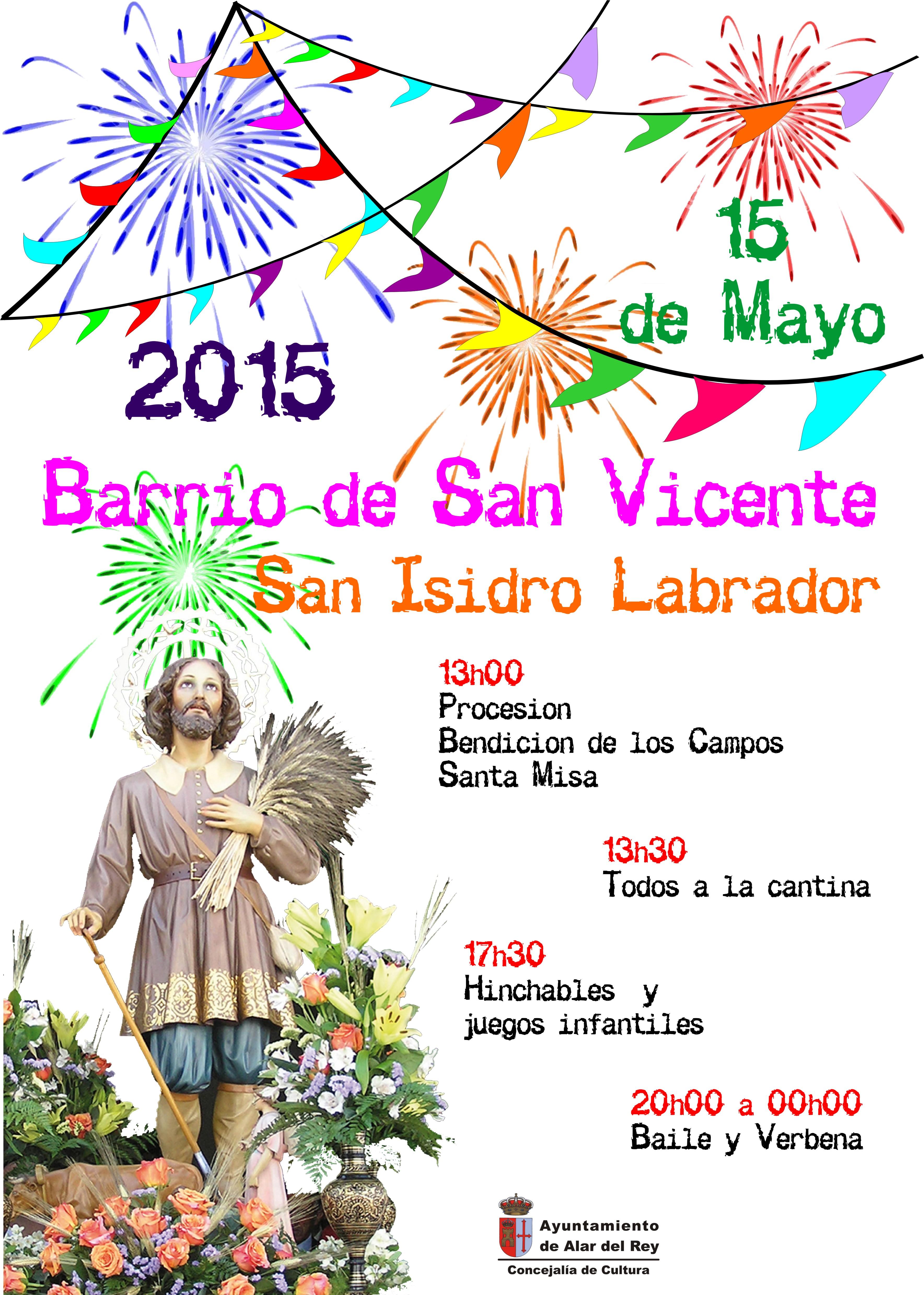 FIESTAS SAN ISIDRO 2015, BARRIO DE SAN VICENTE
