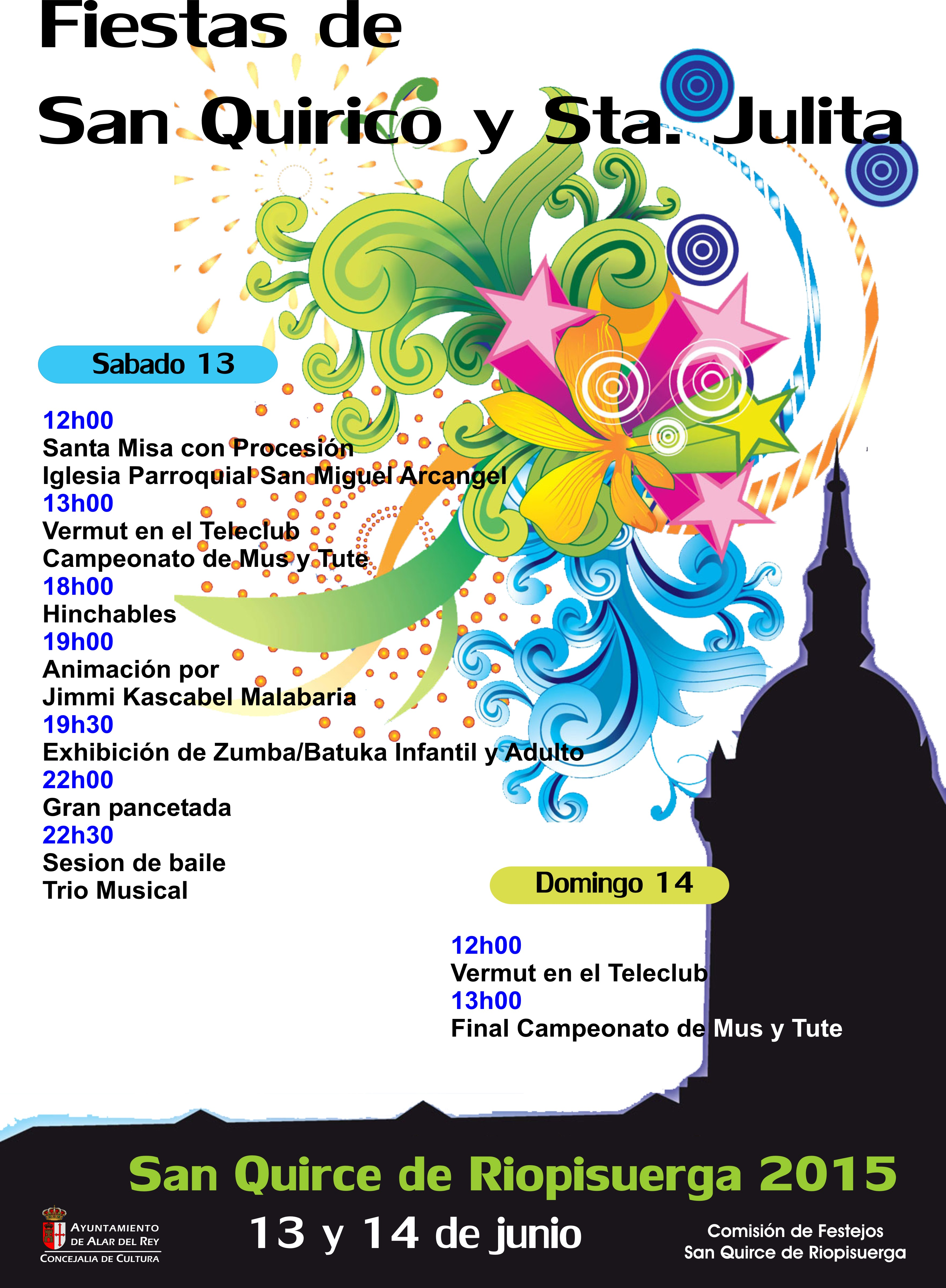 FIESTAS DE SAN QUIRICO Y SANTA JULITA en SAN QUIRCE DE RIOPISUERGA, 13 y 14 de Junio