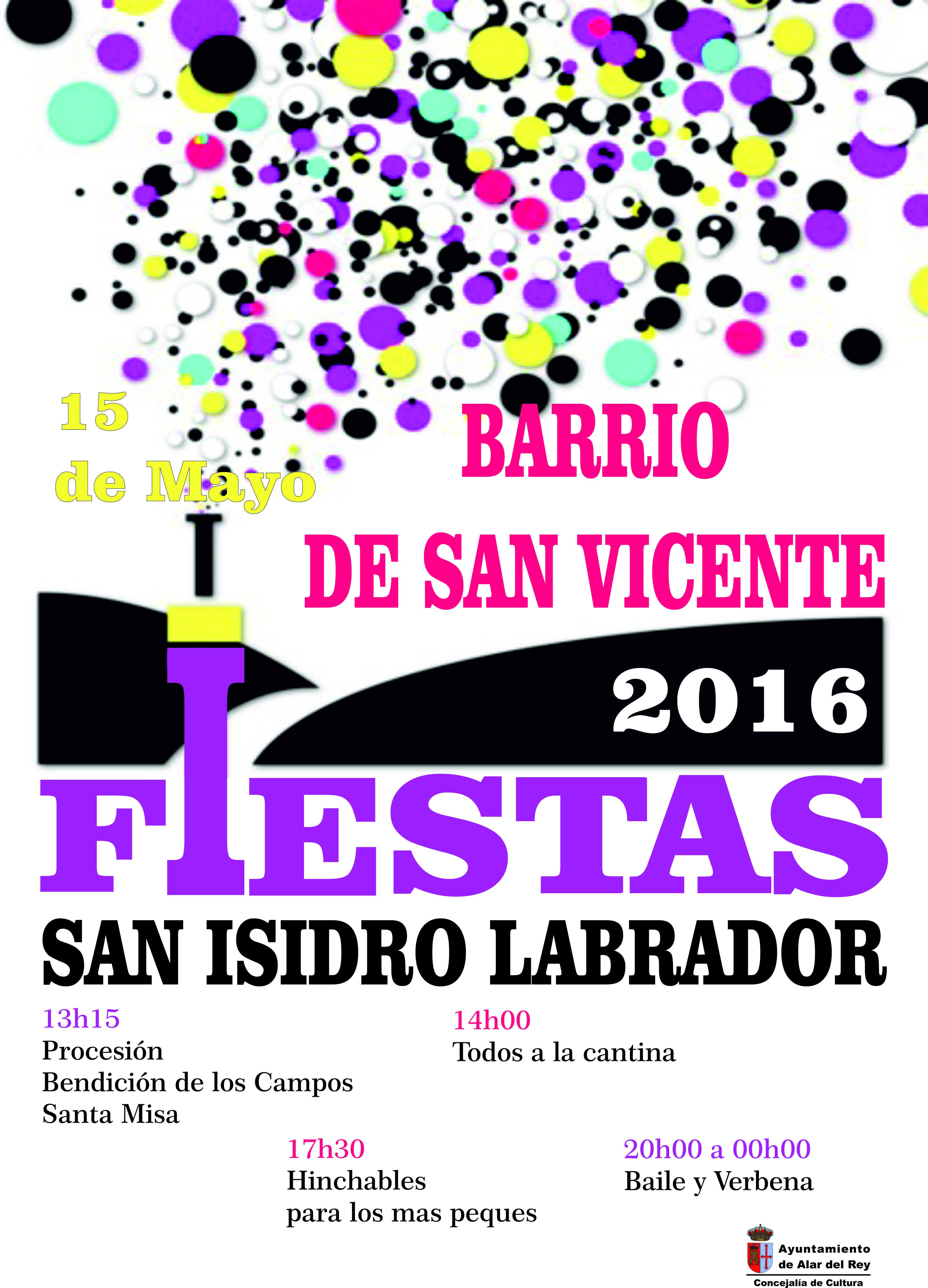 «FIESTAS SAN ISIDRO 2016»  BARRIO DE SAN VICENTE