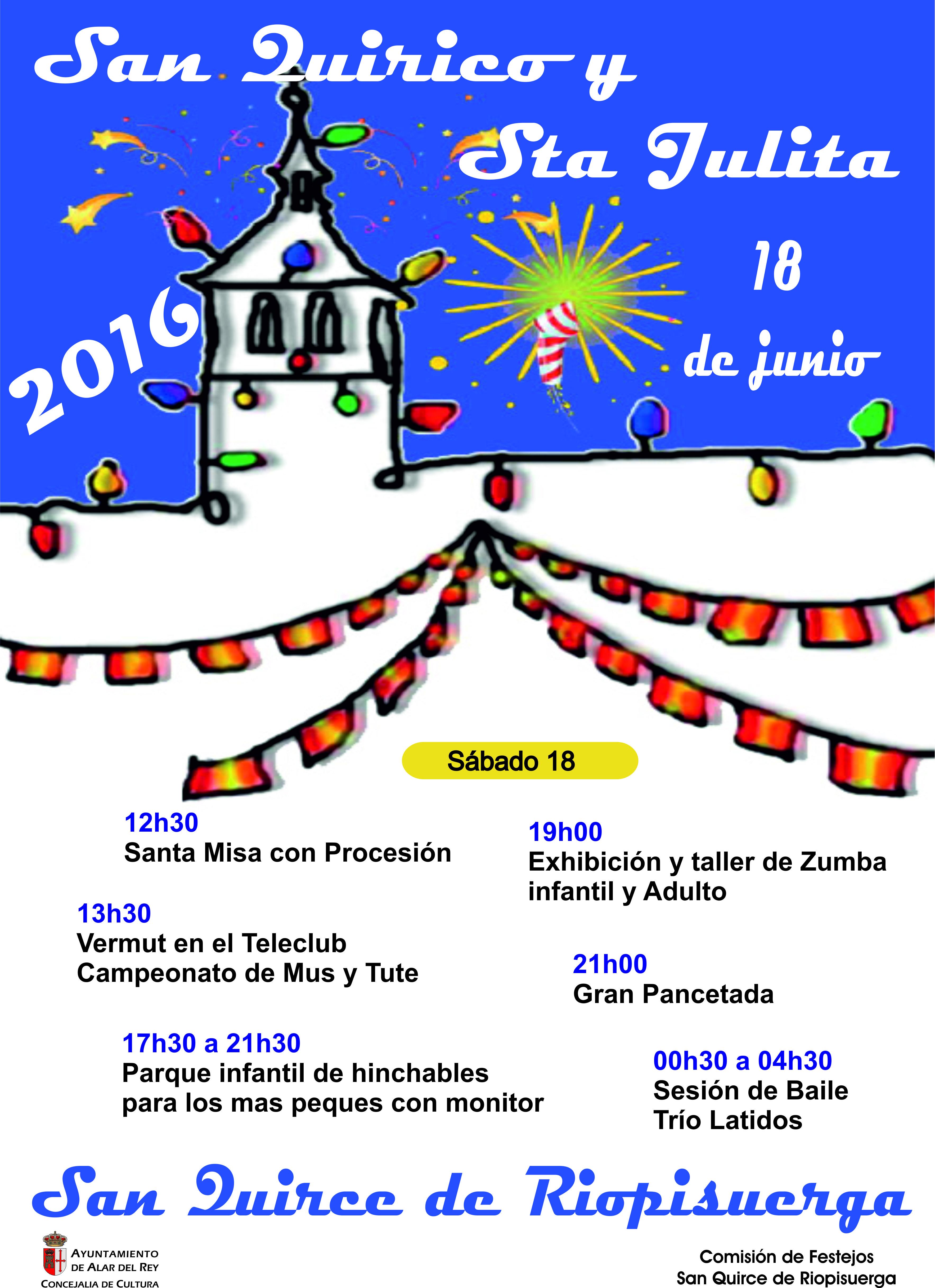 FIESTAS DE SAN QUIRICO Y SANTA JULITA 2016 EN SAN QUIRCE DE RIOPISUERGA